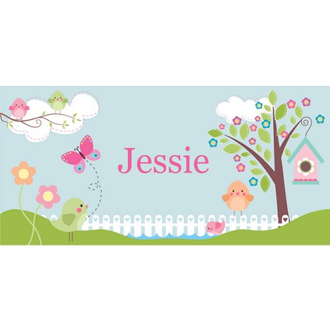 Personalised Name Sign - Birds Nest III