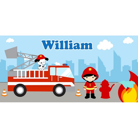 Personalised Name Sign - Fire Fighter