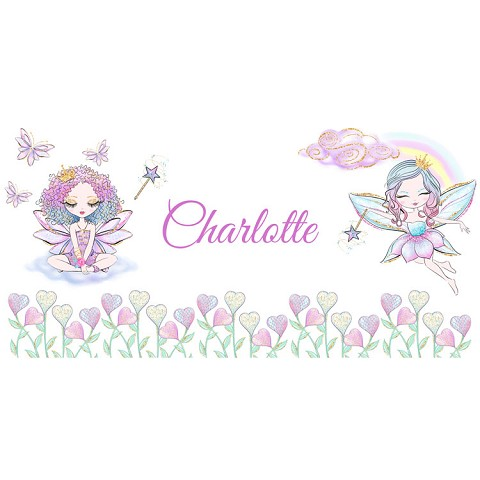 Personalised Name Sign - Fairy Rainbow