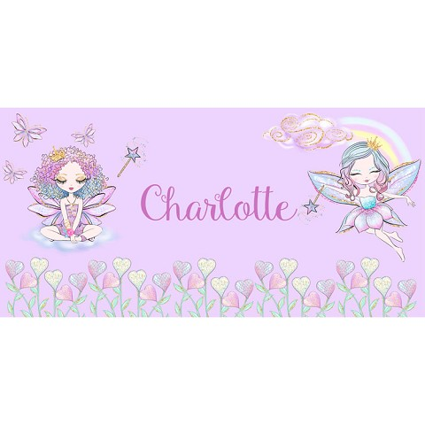 Personalised Name Sign - Fairy Rainbow II
