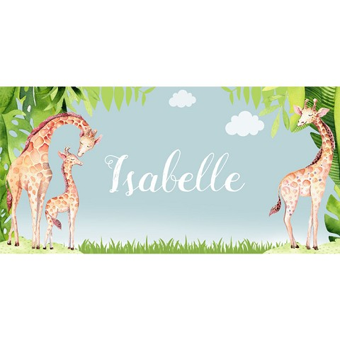 Personalised Name Sign - Giraffe Design