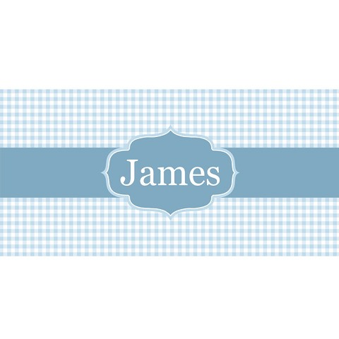 Personalised Name Sign - Blue Checker Elegance