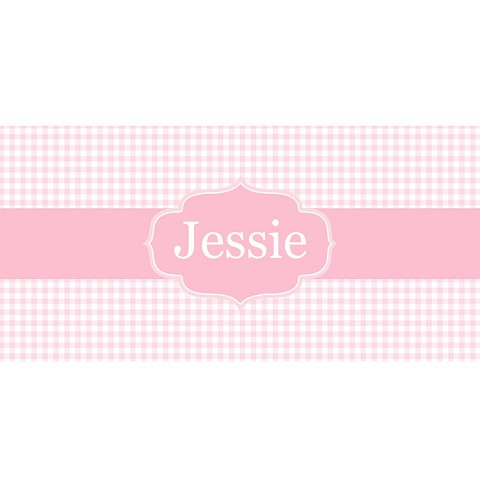 Personalised Name Sign - Pink Checker Elegance