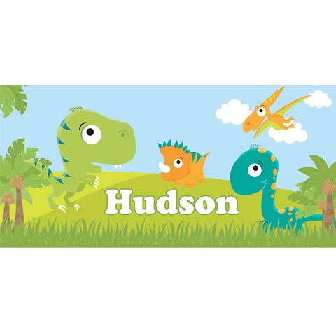 Personalised Name Sign - Dinosaurs