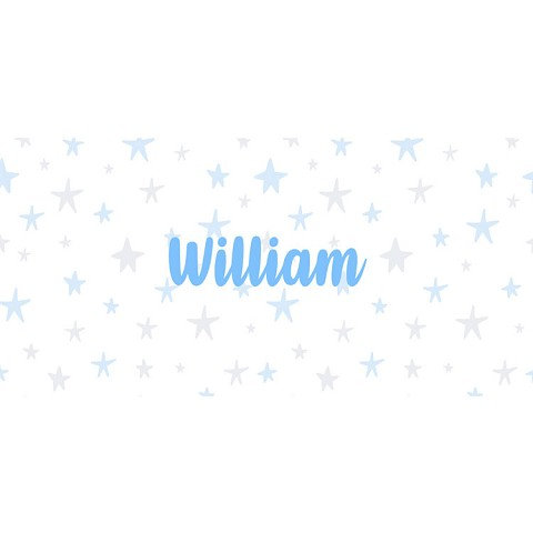 Personalised Name Sign - Sky Blue Stars