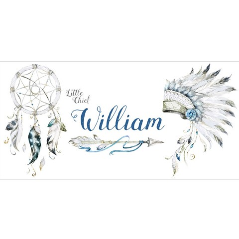 Personalised Name Sign - Tribal Blue