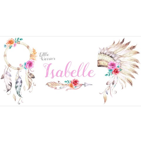 Personalised Name Sign - Tribal Flowers