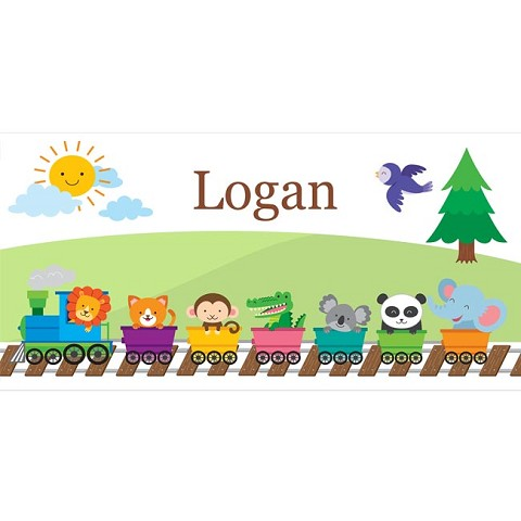 Personalised Name Sign - Train Zoo