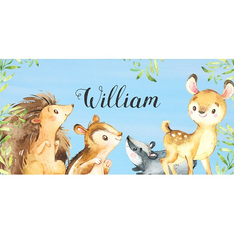 Personalised Name Sign - Forest Animals IIII