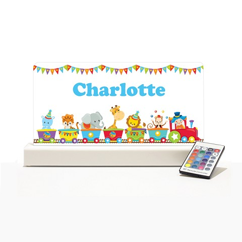 Personalised Night Light - Circus Train