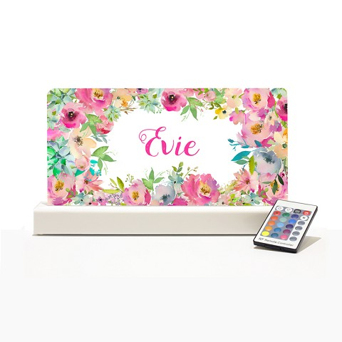 Personalised Night Light - Floral Design 3