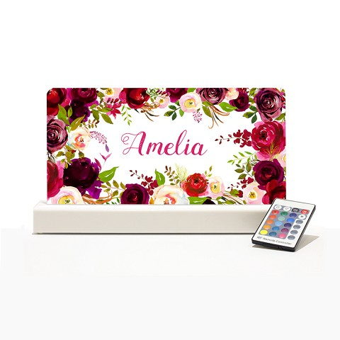 Personalised Night Light - Floral Design 5