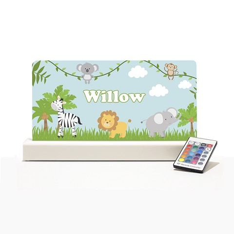 Personalised Night Light - On Safari II