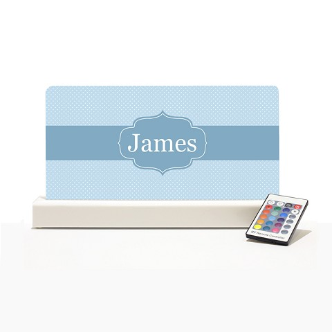 Personalised Night Light - Blue Dots Elegance