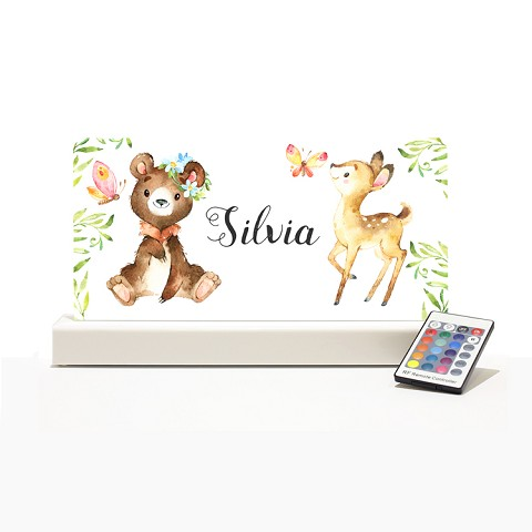 Personalised Night Light - Forest Animals