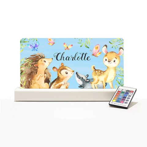 Personalised Night Light - Forest Animals II