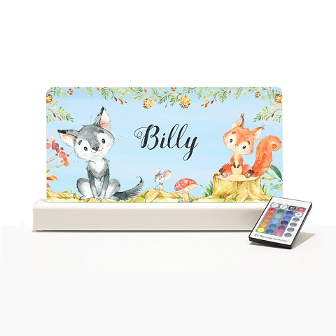 Personalised Night Light - Woodland Animals