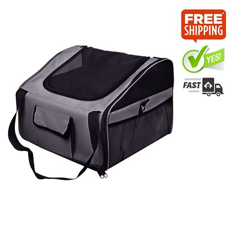 Dog or Cat Car Seat Carrier Travel Bag Small Grey