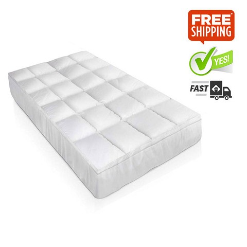 Duck Feather & Down Pillowtop Matress Topper - Single