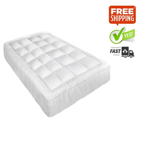 Pillowtop Mattress Topper Protector Pad Cover Double